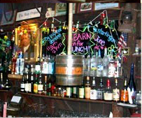 The Barn is a great local spot known for its burgers, ribs, and beer selection