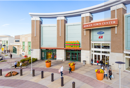 The Outlets at Bergen Town Center is a shopping center located in Bergen County, New Jersey, USA. The center consists of both an indoor mall and exterior outlying stores and occupies over acres split between the municipalities of Paramus and Maywood.