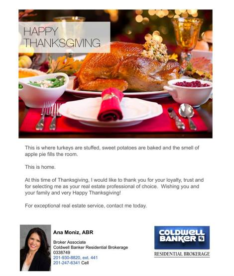 happy thanksgiving bergen county realtor