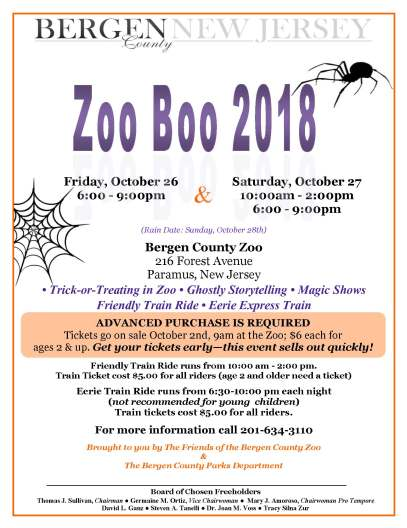 bergen county zoo boo 2018